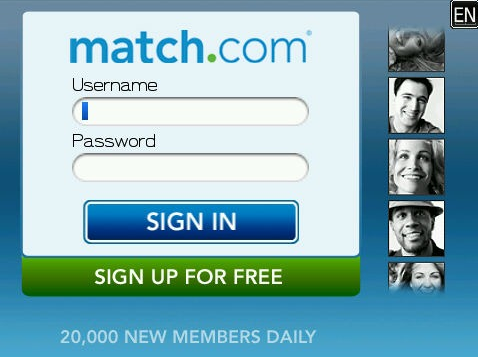 Match dating site login