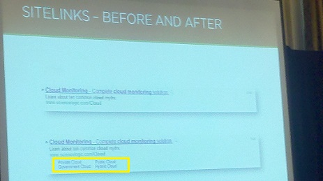 Sitelinks Before and After