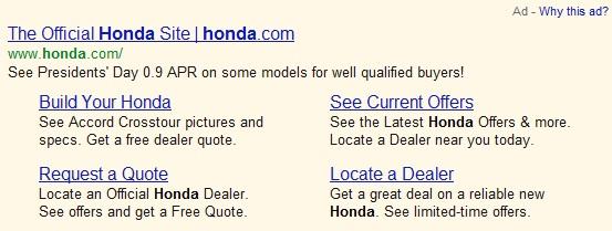 Enhanced Ad Sitelinks
