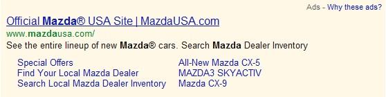 Three-Line Ad Sitelinks