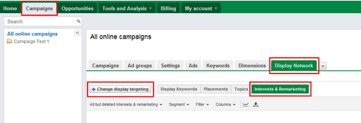 Google AdWords Display Network Options