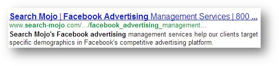 Facebook Advertising Search Result - Search Mojo