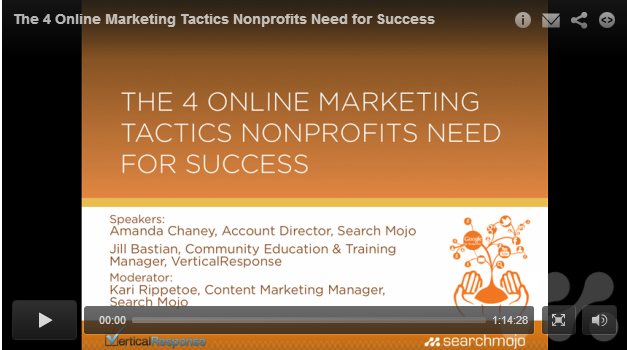 Online Marketing Tactics for Nonprofits Webinar
