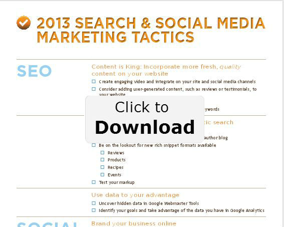 2013 Search and Social Media Marketing Tactics Checklist
