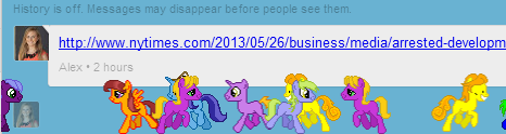 Google Hangout ponystream screenshot