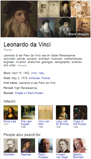 Google Hummingbird Search Leonardo Da Vinci