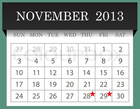 Nov Holiday Cal