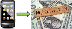 mobile advertising to money