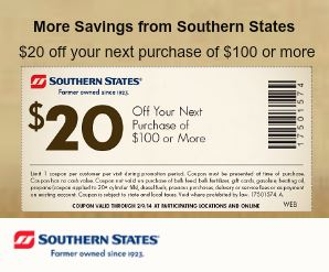 Southern States Coupon Banner Example