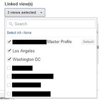 snapshot of Linked Views setting in Google Analytics