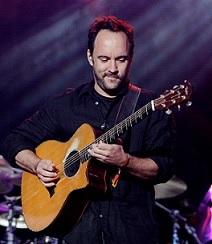 Dave Matthews playing guitar
