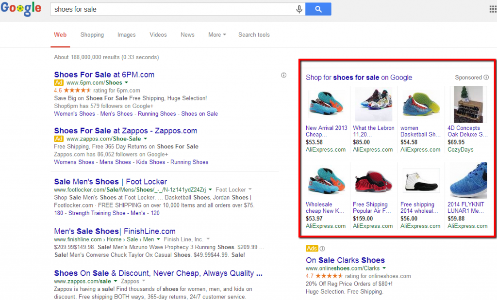 Google AdWords PLAs