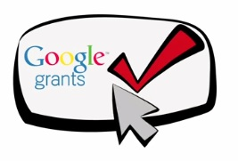 Google Grants logo with check mark and mouse arrow
