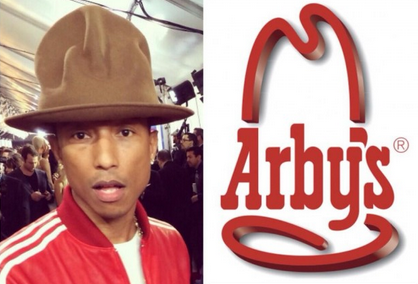 Pharrell's Hat and Arbys