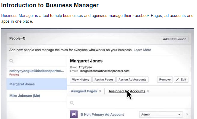 Intro to Business Manager