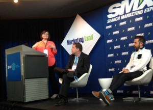 Jessica Bowman speaking at SMX Advanced in Seattle
