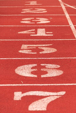The numbers on the track