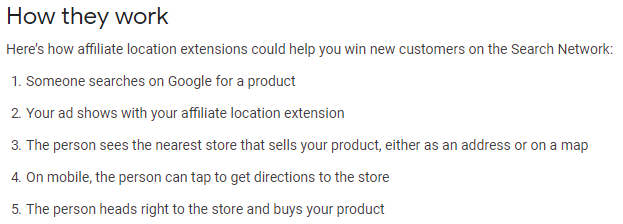 How Affiliate Location Extensions Work
